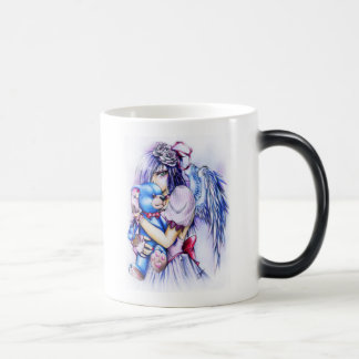 Anime Gothic Pink Angel Girl With Teddy Magic Mug