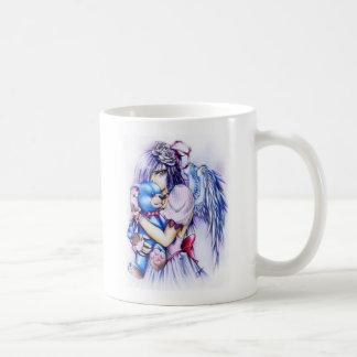 Anime Gothic Pink Angel Girl With Teddy Mug