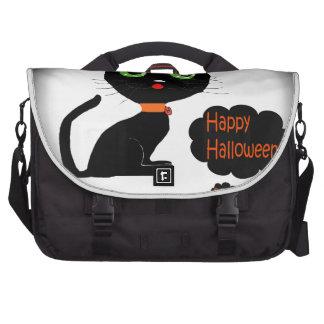 Anime Halloween Black Cat Laptop Bag