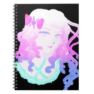 Anime  Hipster Kawaii Pastel Creepy Cute Girl Spiral Notebook