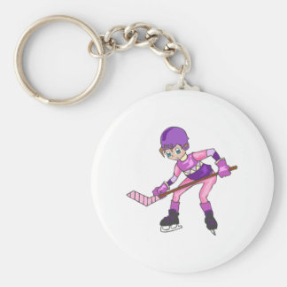 Anime Hockey Girl Keychain