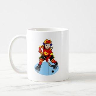 Anime hockey player boy mug