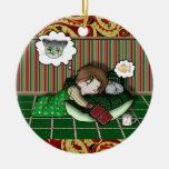 Anime Holiday Dream Double-Sided Ceramic Round Christmas Ornament