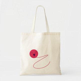 Anime-Inspired Yarn Ball Tote Bag
