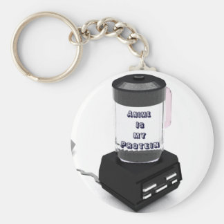 Anime is my Protein Homemade Blender Product line Keychain