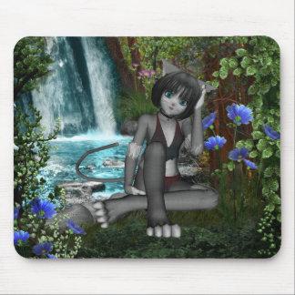 Anime Kitten Waterfalls 2 Mouse Mat