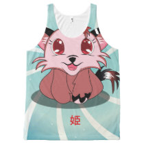 Anime Kitty - Hime, All-Over-Print Tank Top