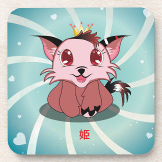 Anime Kitty - Hime, Coaster