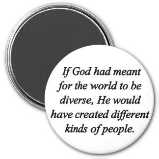 Anime la diversidad (sq) imán redondo 7 cm