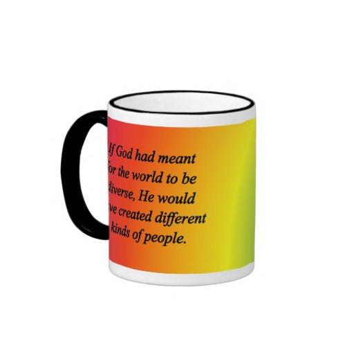 Anime la diversidad (sq) taza de dos colores