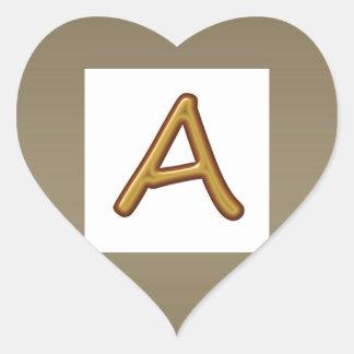 Anime la excelencia: Imagen de oro del premio del Pegatina En Forma De Corazón