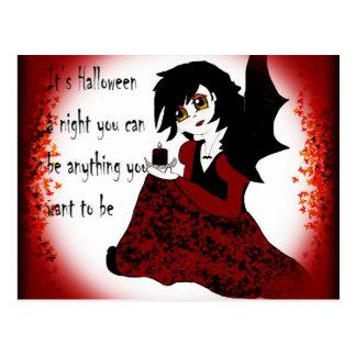 Anime Little Girl Vampire Postcard