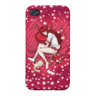 Anime Lovely Dreams With Sparkles Cases For iPhone 4