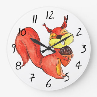 Anime Lovely Squirrel Funny Clock