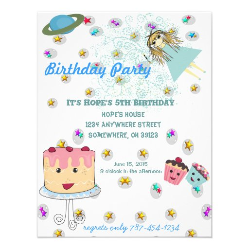 Birthday Invitations Cards with beautiful invitations layout
