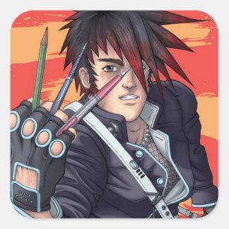 Anime Manga Artist Square Sticker
