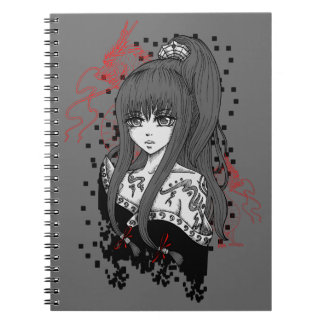 Anime/Manga Girl with Asian dragee ONS Notebook