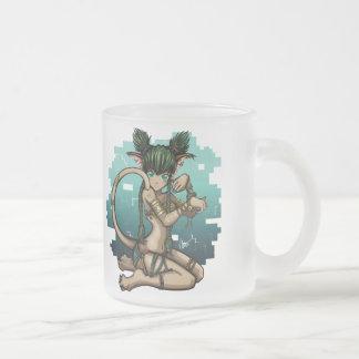 Anime Manga Sexy Eyes Cat Girl Furry Art Frosted Glass Coffee Mug