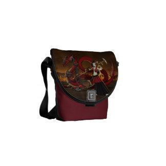 Anime Manga Warrior Dragon Messanger Bag