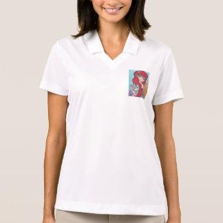 Anime Mermaid Catfist Art Print Polo T-shirt
