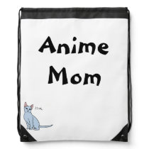 Anime Mom Drawstring Backpack
