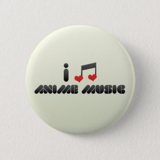 Anime Music Pinback Button