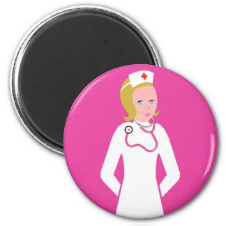 Anime Nurse wearing Pink Stethoscope Magnet