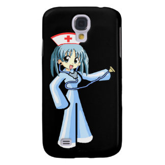 Anime Nurse with Stethoscope and blue uniform Samsung Galaxy S4 Case
