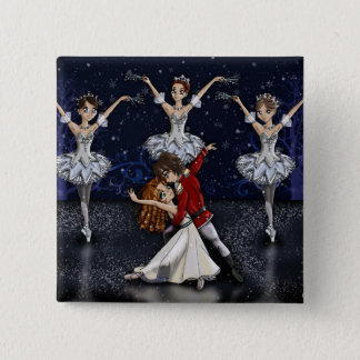 Anime Nutcracker Snowflakes Button