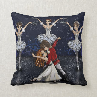 Anime Nutcracker Snowflakes Pillow