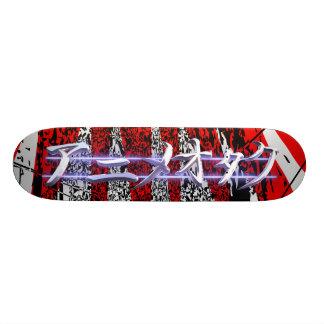 Anime Otaku red burst Skateboard Deck