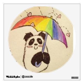 anime panda wall sticker