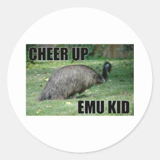 Anime para arriba al pegatina del niño del Emu