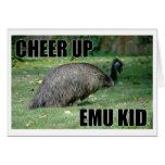 Anime para arriba la tarjeta del niño del Emu