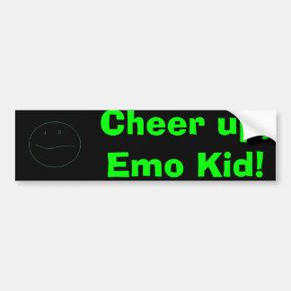 ¡Anime para arriba, niño de Emo! Pegatina Para Auto