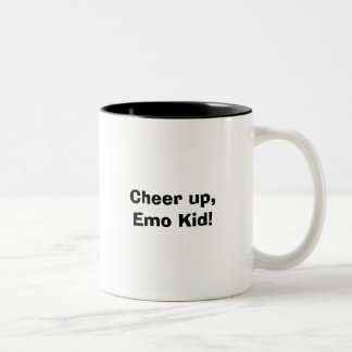 ¡Anime para arriba, niño de Emo! Taza De Dos Tonos