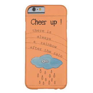 ¡Anime para arriba! Nube pintada acuarela Funda De iPhone 6 Barely There