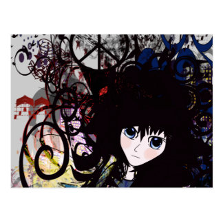 Anime Peace Grunge Postcard