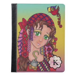 Anime Pirate Doodle girl Personalizable iPad Case