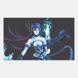 Anime Pirate Girl Rectangular Sticker