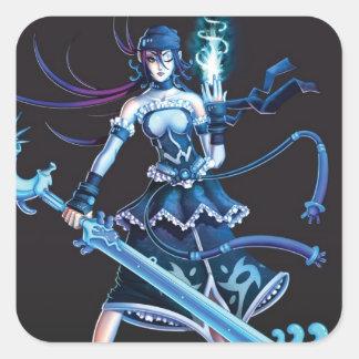 Anime Pirate Girl Square Sticker