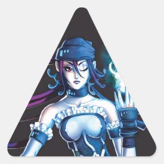 Anime Pirate Girl Triangle Sticker