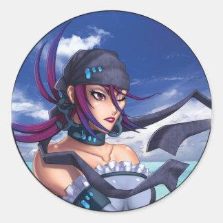 Anime Pirate Porthole Classic Round Sticker