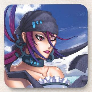 Anime Pirate Porthole Drink Coaster