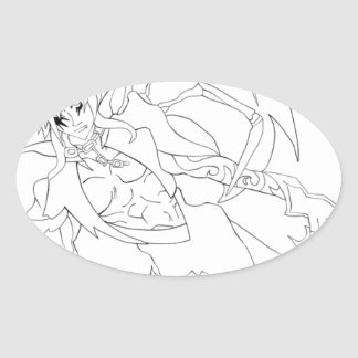 Anime Prince Oval Sticker
