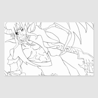 Anime Prince Rectangular Sticker