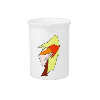 Anime profile in orange glasses pitchers