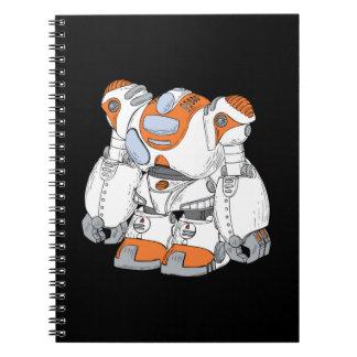 Anime Robot Spiral Note Books