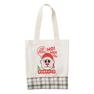 Anime Santa Christmas Zazzle HEART Tote Bag