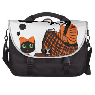 Anime Sitting Halloween Witch Computer Bag